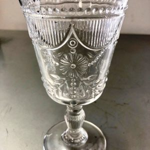 antique clear wine glass rental